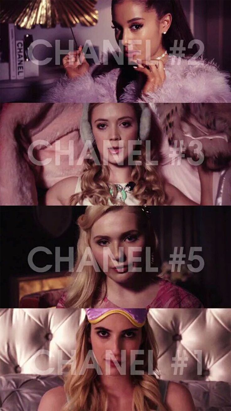 The Chanels: #1 #2 #3 #5 #screamqueens