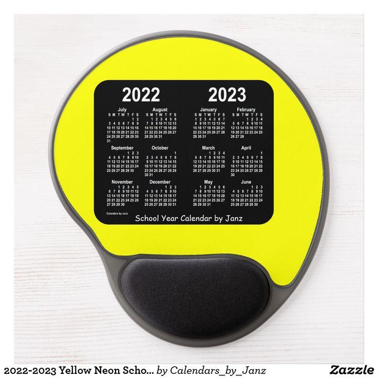 20222023 Yellow Neon School Calendar by Janz Gel Mouse