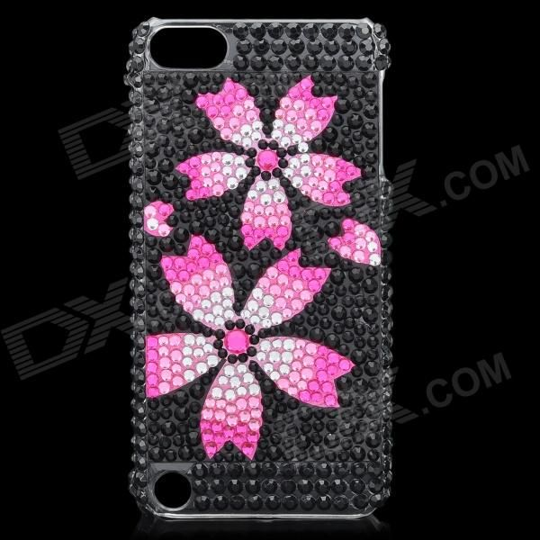 Quantity: 1 Piece; Color: Black + Deep Pink; Material: Plastic + Acrylic crystals; Type: Back Cases; Compatible Models: Ipod Touch 5; Other Features: Protects your device from scratches dust and shock; Packing List: 1 x Protective case; http://j.mp/1lkvL52