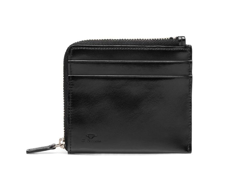 Il Bussetto Black Leather Zip Wallet