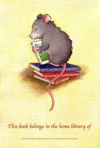 Helen Oxenbury mouse book plate