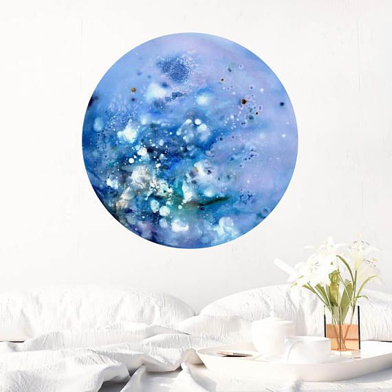 Super Blue Blue Moon Wall Decal Celestial Art Baby Boy Bedroom