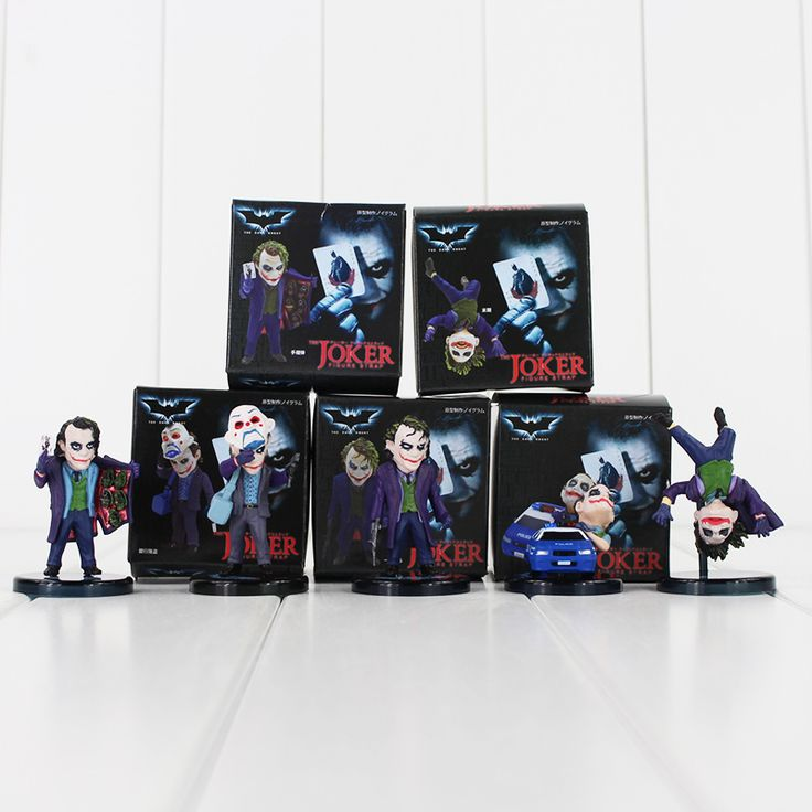 5 Pcs Batman The Dark Knight The Joker Mini Action Figures //Price: $18.96 & FREE Shipping //     #actionfigure