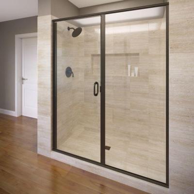Basco Infinity 59 in. x 68-5/8 in. Semi-Frameless Hinge Shower Door in Oil…