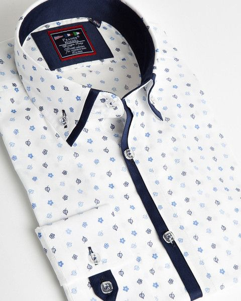 white Floral impression shirt