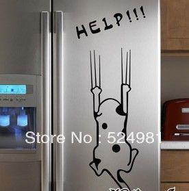Бесплатная доставка! Мультфильм холодильник кухонный шкаф наклейки мебель стеклянные стены наклейки