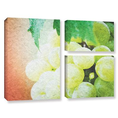 "Red Barrel Studio Planet of The Grapes 4 Piece Framed Graphic Art Set Size: 24"" H x 36"" W x 2"" D"
