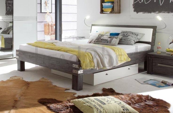 Hasena Ivio Arcada Arona - Solid Acacia Vintage Real Leather Bed