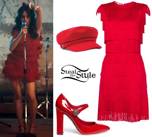 I'm in serious love with this red fringe dress worn in the