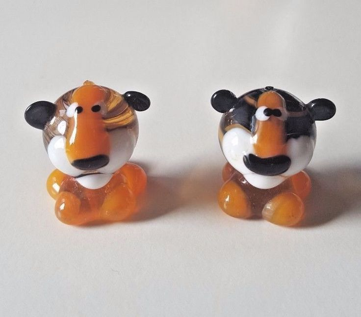 2 x Murano Glass Collectable Miniature Colorfull Tiger Figures Handmade 1'' | Collectables, Animal Collectables, Wild Animals | eBay!