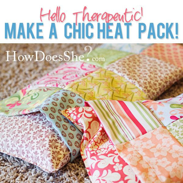 Sewing Tutorial: Therapeutic heat (or cooling) pack with washable cover, by Shelley & Lara on www.howdoesshe.com (20 May 2010). I've seen patterns for these filled with rice, wheat, and flax. This one uses dried corn kernels (NOT popcorn). I wonder how they compare to the other fillers? I like that these have removable, washable covers.