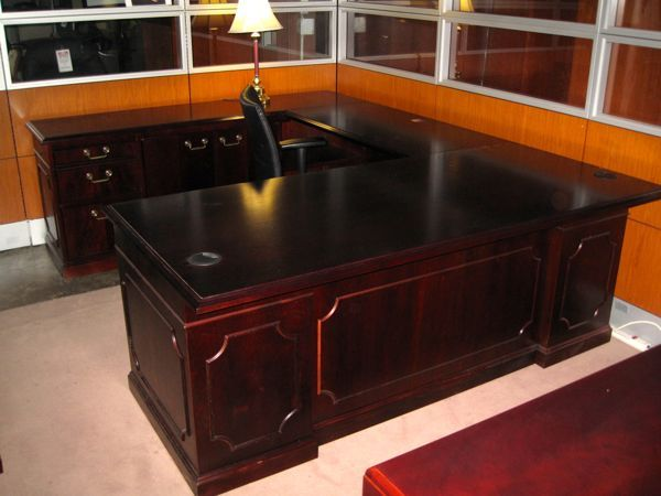 Used Kimball U Shaped Desk For Sale Office Furniture