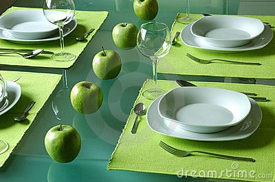 Trendy Dining Table Setting - Download From Over 56 Million High Quality Stock Photos, Images, Vectors. Sign up for FREE today. Image: 2205221