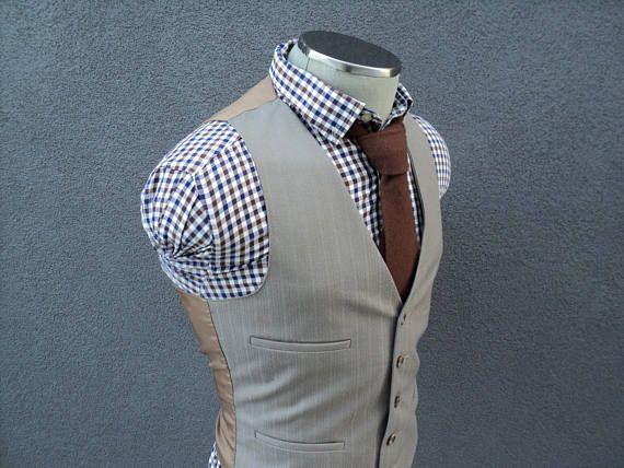 1960s Vintage Vest / Wool Waistcoat / Mens Vest / Mens