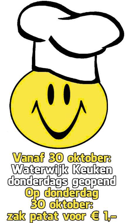 Bericht van de Kantine Commissie ASCWaterwijk  Vanaf donderdag 30 oktober is de Keuken donderdags geopend. Op donderdag 30 oktober: zak patat voor €1  dank voor uw aandacht. de Kantine Commissie