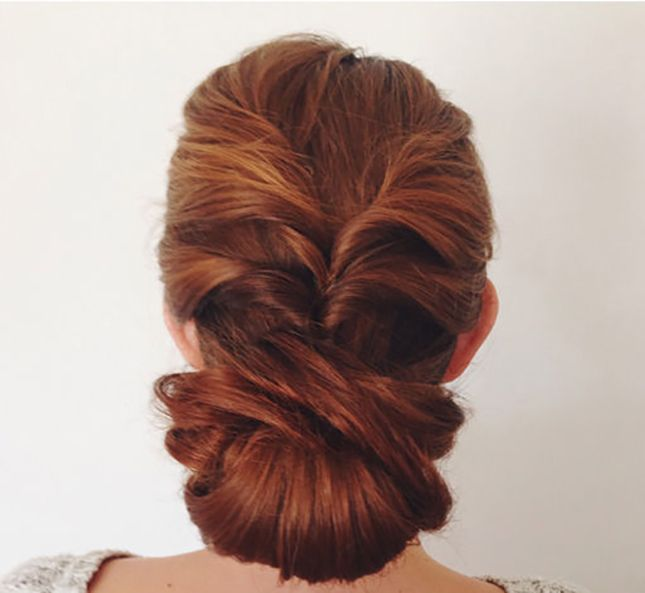 Love this twisted bun updo.
