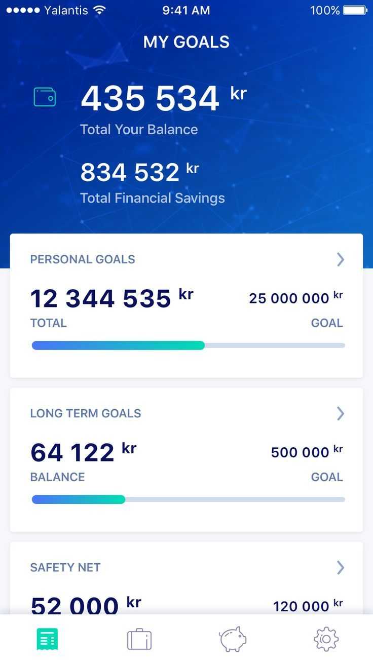 My Goals - finance app