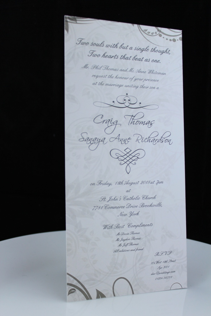 DL Size Wedding Invite Floral Wedding