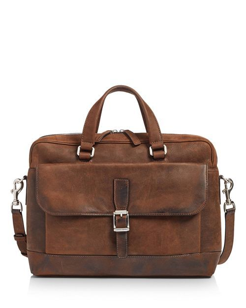 3342a61a9 FRYE   Oliver Double-Handle Leather Briefcase - Dark Brown   CAD 832.69    Double