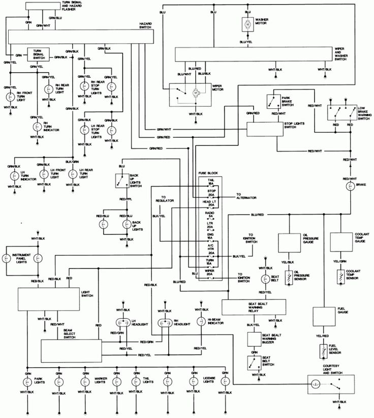 1984 toyota 4runner wiring diagram