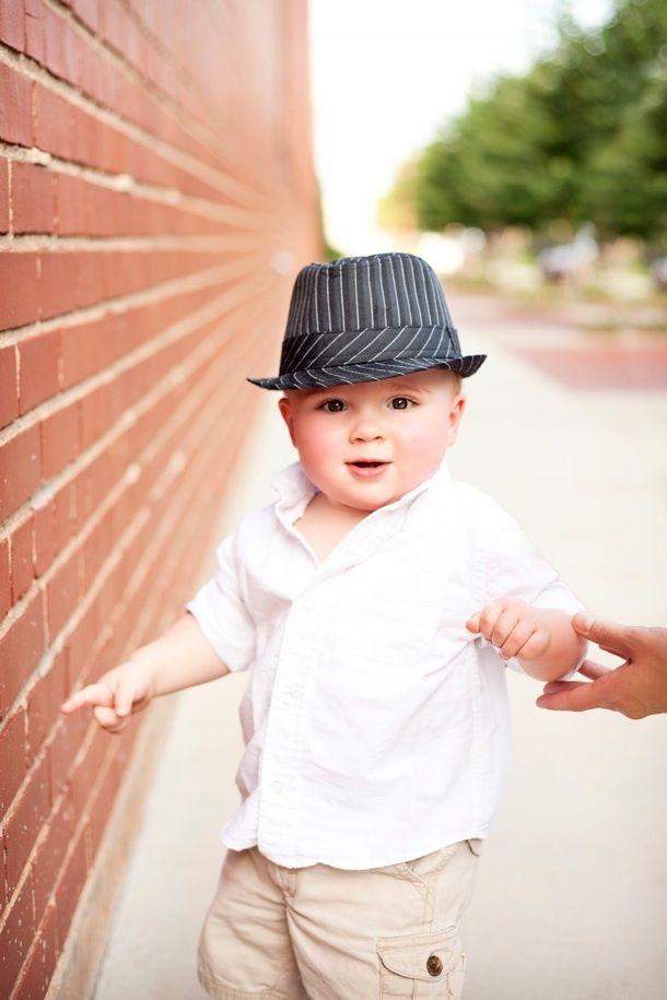 baby boy brick wall, april