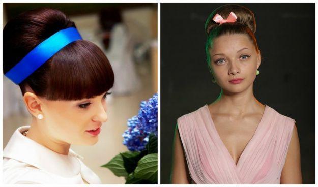 "Прическа ""Бабетта"" с лентой ::: onelady.ru ::: #hair #hairs #hairstyle #hairstyles"