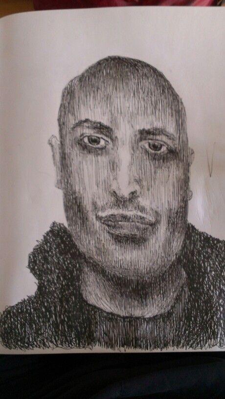 # #portrait #picture #pen drawing # Alexis #