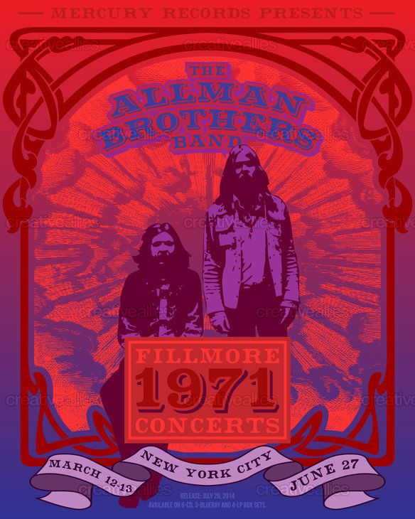 Allman Brothers Band Poster by Diego Herrera on CreativeAllies.com