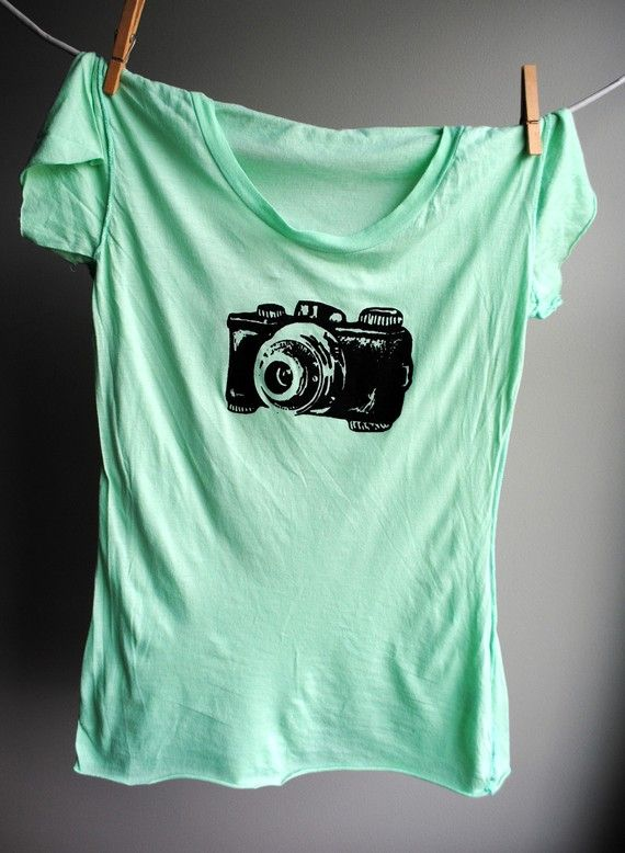 Vintage camera t-shirt.