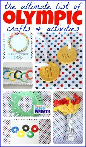 The Ultimate List of Olympic Crafts and Activities for Kids: Craft Kids, Olympic Activities For Kids, Olympics Crafts For Kids, Olympics Activities For Kids, Winter Olympics, Art, Activities Crafts, Olympic Crafts For Kids, Ultimate List
