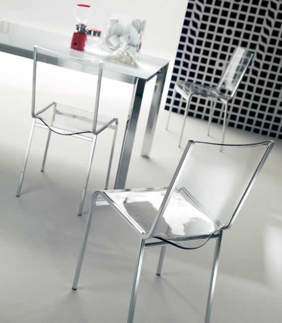 KAI, design: Toshiyuki Yoshino archietto - Metal frame chair, seat and back in wood or Vitrex. www.ozzio.com