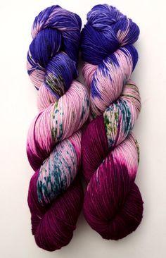 pretty shades of purple yarn