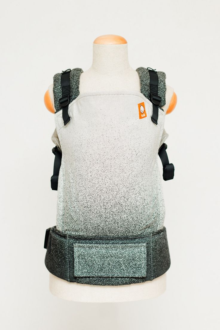Black ombre baby carrier. Baby Tula Wrap Conversion Carrier.