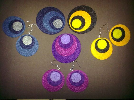 Felt Brooches and Earrings - Spille ed orecchini in feltro: