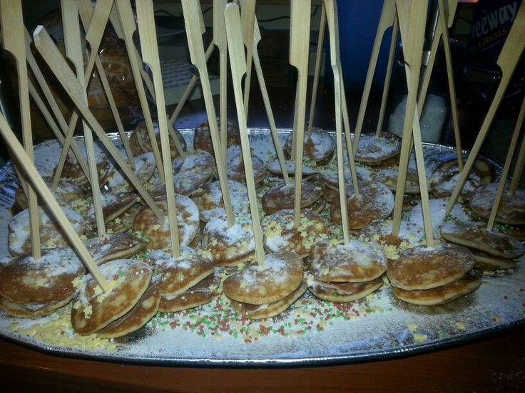 Kerstdiner (2013) poffertjes met Nutella