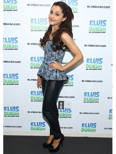 Ariana took a break from dresses and got a little edgy when she visited The Elvis Duran Z100 Morning Show in 2012!