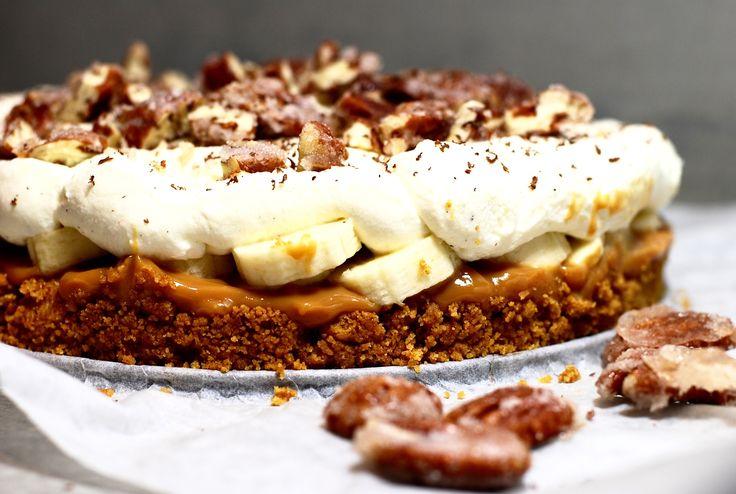 Banoffee pie med dulce de leche, yoghurtgrädde & kanderade pekannötter!   Sveriges Mästerkock Catarina König