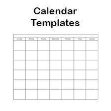 Printable Calendar Template - 2014, 2015 and Blank Calendars