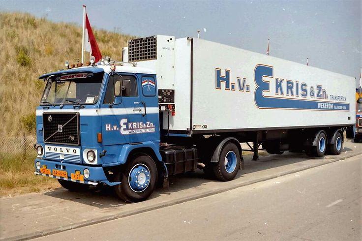Volvo F 88 4x2 met koeloplegger van H.v.Ekris in Wekerom