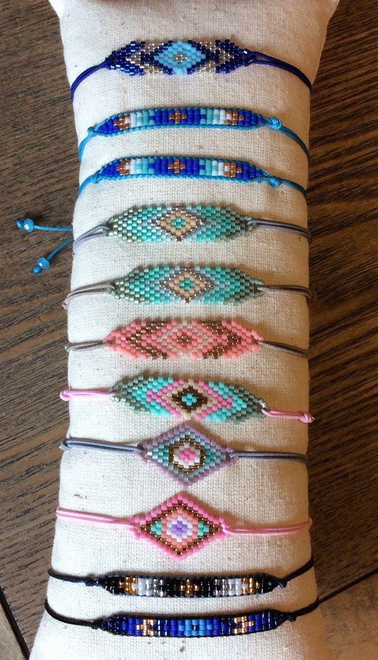 Bracelet fin,délicat,tendance.perles Miyuki.ajustable..minimaliste.