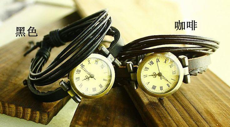 >> Click to Buy << Holiday sale Vintage Roman Genuine Cow leather punk watch women men fashion dress quartz wristwatches  KOW018 #Affiliate