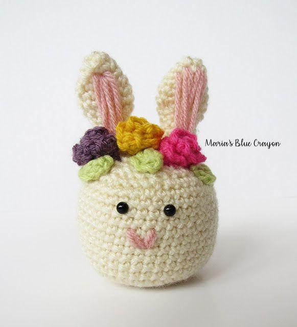 Flowery Easter Eggs - Free amigurumi pattern   640x581