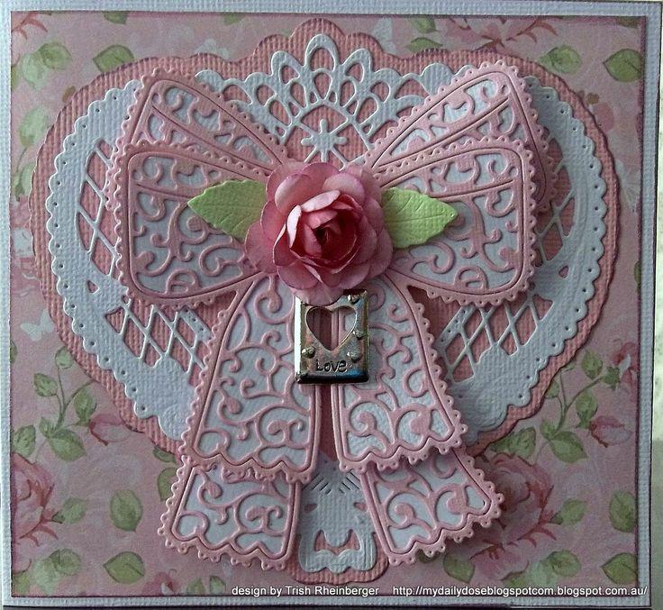 Tattered lace die card - Scrapbook.com