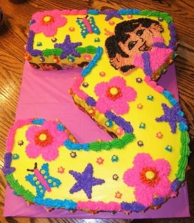 Dora Cake By Definetlydeb on CakeCentral.com