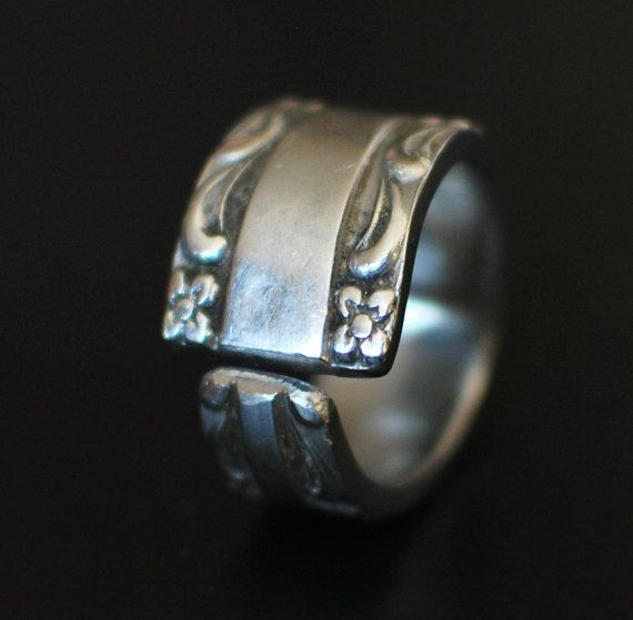Perfect River of Life Stainless Steel Spoon Ring by dremeWORKS on Etsy