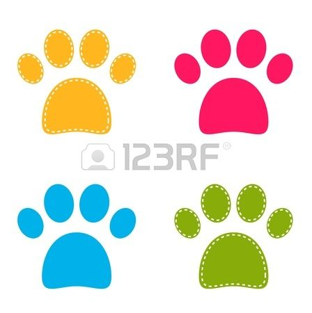 Colorful Doggie Paws collection.
