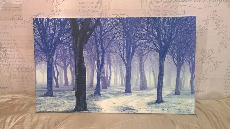 New Stunning Blue Forest Ice Diamond Dust Canvas Art £40  it is 22 Inches x 13.5 inches.