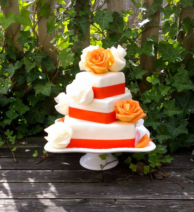 shabby chic bridal shower cakes%0A tangerine wedding cake