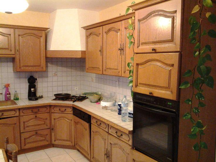 R nover une cuisine comment repeindre une cuisine en ch ne a essayer avant de tout changer - Peinturer armoire de cuisine en bois ...