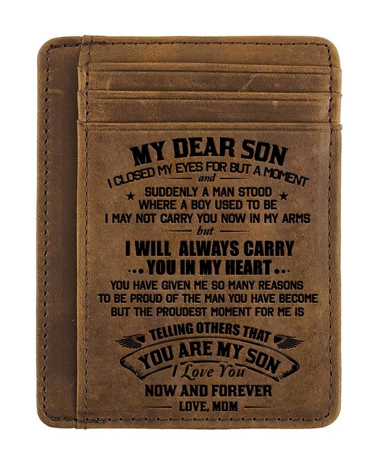 Leathrr to My Son Gift for Son I Will Always be There for You Birthday Gift Men Wallet from Dad